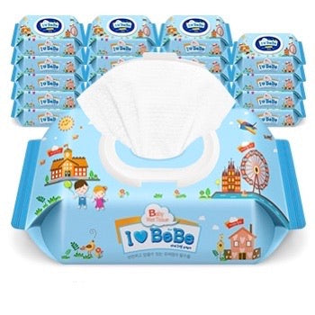 I LOVE BEBE Wet Wipes (with cap) 80 sheets x 20 packs