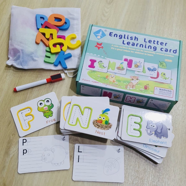 English Letter Learning Card Set