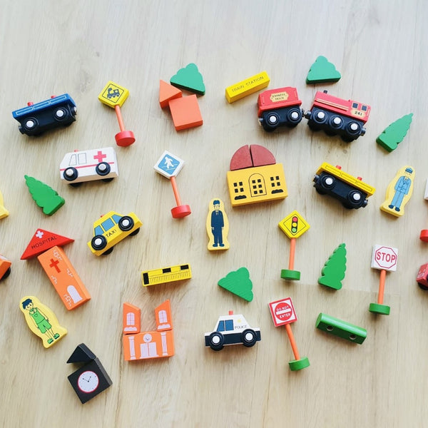 City Traffic Building Blocks Set