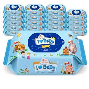I LOVE BEBE Wet Wipes (Refill) 80 sheets x 20 packs