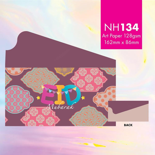 "NH134 ""Batik Eid Mubarak"" Envelopes"