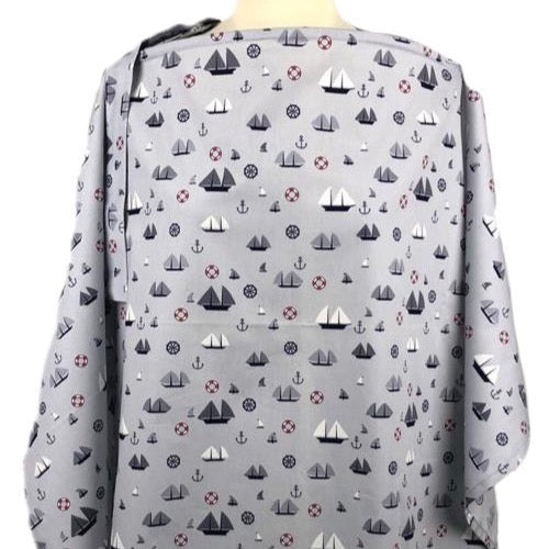 Monochrome Nautical Nursing Cover