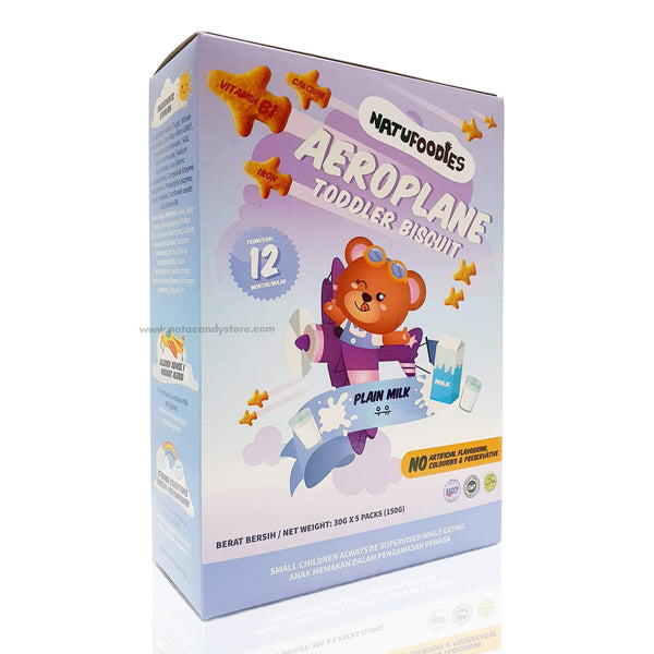 NATUFOODIES Plain Milk Aeroplane Biscuit (12M+)