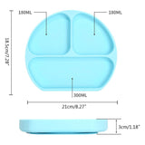 Blue Silicone Suction Plate