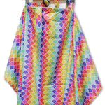 Rainbow Scallop Nursing Cover