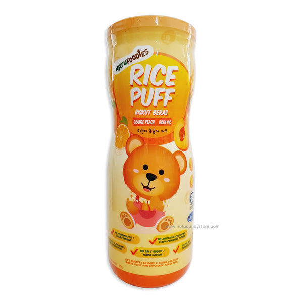 NATUFOODIES Orange Peach Rice Puff 60g (8M+)