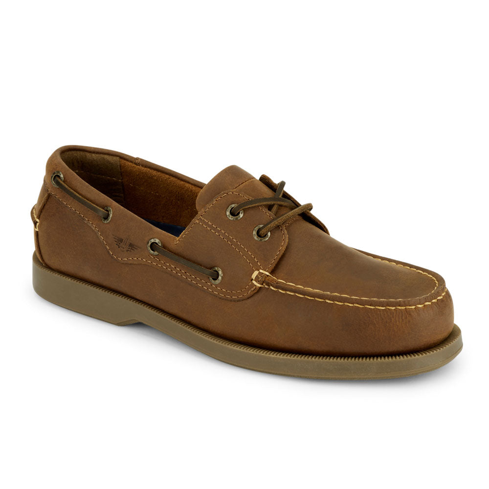 Tan-Dockers Mens Castaway Genuine Leather Casual Classic Rubber Sole Boat Shoe