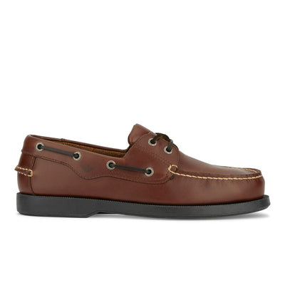 Raisin-Dockers Mens Castaway Genuine Leather Casual Classic Rubber Sole Boat Shoe