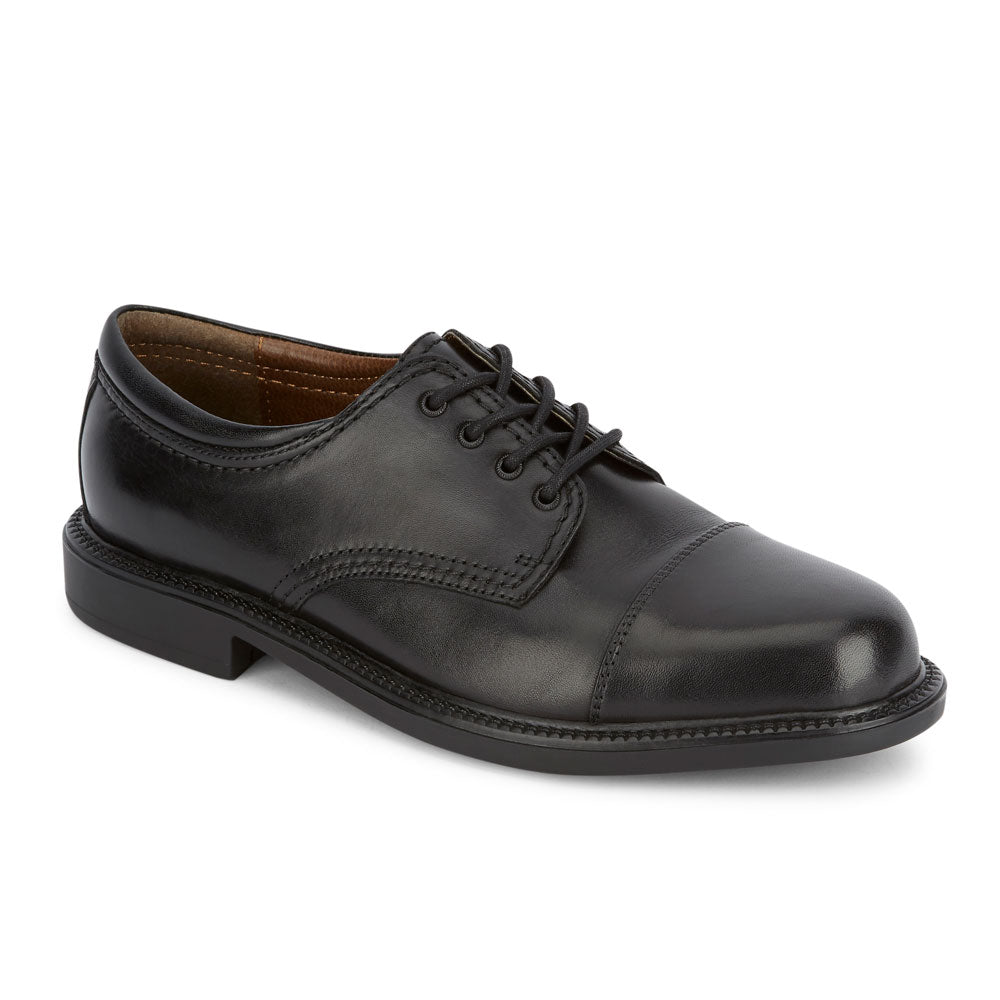 Black-Dockers Mens Gordon Genuine Leather Dress Casual Cap Toe Lace-up Oxford Shoe