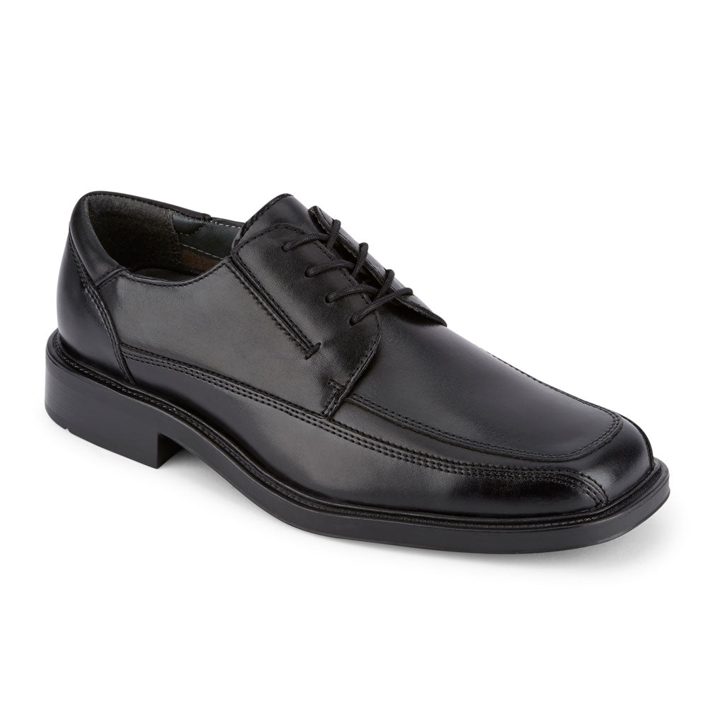 Black-Dockers Mens Perspective Genuine Leather Business Dress Lace-up Oxford Shoe