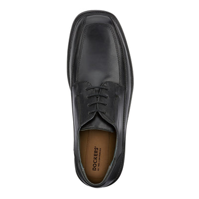 Black-Dockers Mens Perspective Leather Business Oxford Shoe - Wide Widths Available