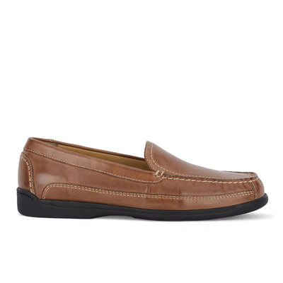 Saddle Tan-Dockers Mens Catalina Leather Casual Slip-on Comfort Loafer Shoe