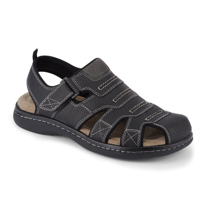 Black-Dockers Mens Searose Casual Comfort Outdoor Sport Fisherman Sandal Shoe