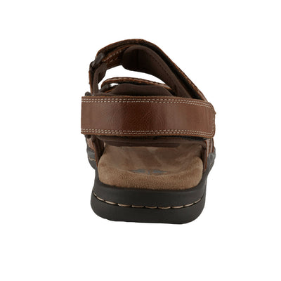 Rust-Dockers Mens Newpage Casual Comfort Outdoor Sport Adjustable Sandal Shoe