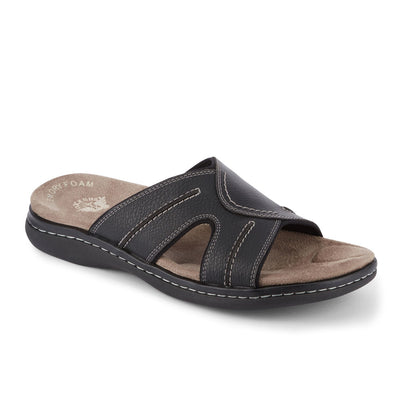 Black-Dockers Mens Sunland Casual Comfort Outdoor Slip-on Slide Sandal Shoe