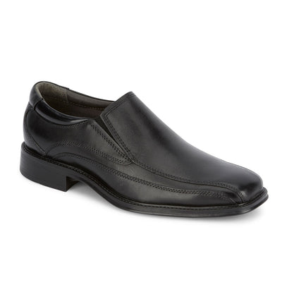 Black-Dockers Mens Franchise Genuine Leather Dress Slip-on Comfort Loafer Shoe