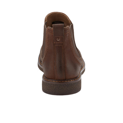 Chocolate-Dockers Mens Stanwell Leather Gored Slip-on Chelsea Boot