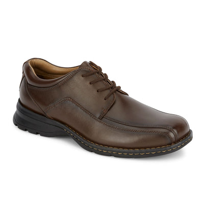 Dark Tan-Dockers Mens Trustee Genuine Leather Dress Casual Lace-up Oxford Comfort Shoe