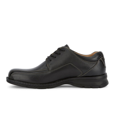 Black-Dockers Mens Trustee Genuine Leather Dress Casual Lace-up Oxford Comfort Shoe
