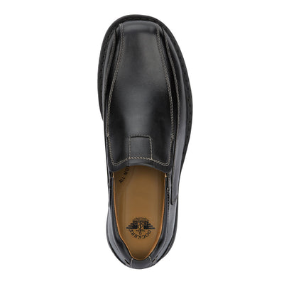 Black-Dockers Mens Agent Genuine Leather Dress Casual Slip-on Loafer Comfort Shoe
