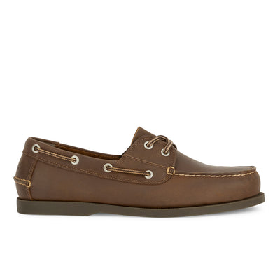 Rust-Dockers Mens Vargas Genuine Leather Casual Classic Rubber Sole Boat Shoe