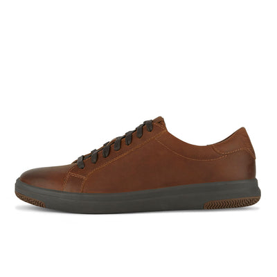 Chocolate-Dockers Mens Gilmore Genuine Leather Casual Fashion Lace-up Sneaker Shoe