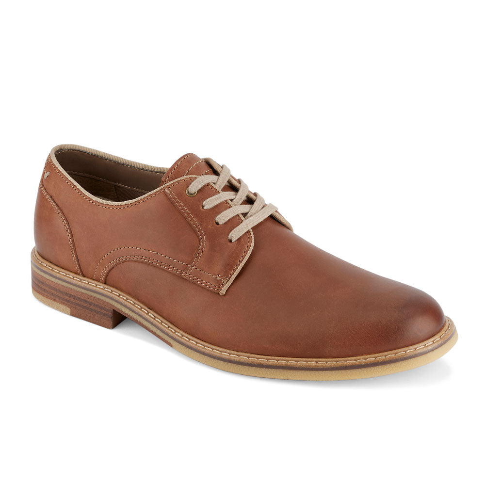 Tan-Dockers Mens Martin Genuine Leather Casual Lace-up Oxford Shoe with NeverWet