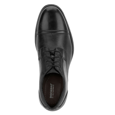 Black-Dockers Mens Garfield Business Dress Cap Toe Lace-up Comfort Oxford Shoe