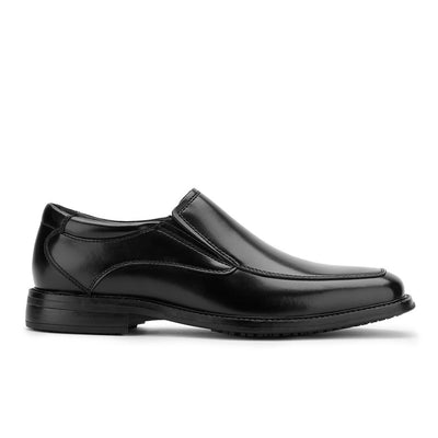 Black-Dockers Mens Lawton Slip Resistant Work Dress Slip-on Loafer Shoe with SureGrip