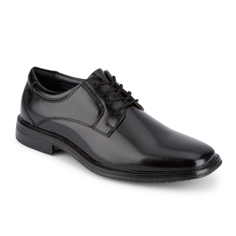 2430ce235052 Black-Dockers Mens Irving Slip Resistant Work Dress Lace-up Oxford Shoe  with SureGrip