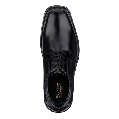 Black-Dockers Mens Irving Slip Resistant Work Dress Lace-up Oxford Shoe with SureGrip