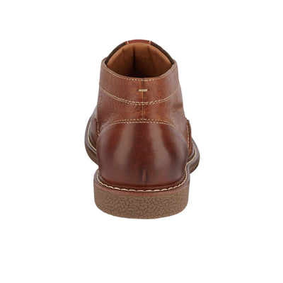 Cognac-Dockers Mens Greyson Genuine Leather Lace-up Casual Rubber Sole Chukka Boot