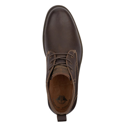 Chocolate-Dockers Mens Silas Genuine Leather Seam Sealed Waterproof Desert Chukka Boot