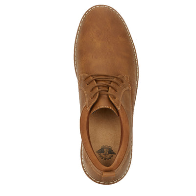 Tan-Dockers Mens Braxton Business Casual Lace-up Rubber Sole Comfort Oxford Shoe