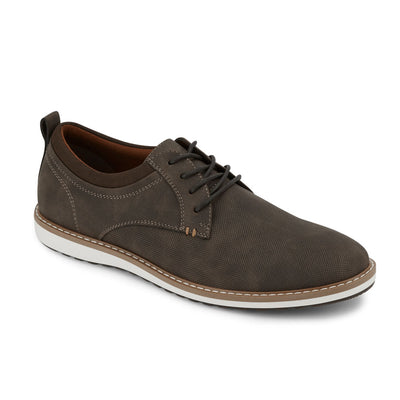 Brown-Dockers Mens Braxton Business Casual Lace-up Rubber Sole Comfort Oxford Shoe