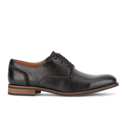 Black-Dockers Mens Bradford Dress Rubber Sole Plain Toe Lightweight Oxford Shoe