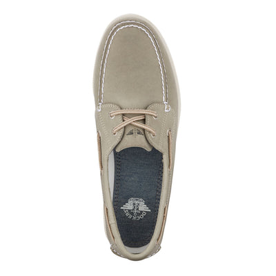 Grey-Dockers Mens Vargas Genuine Leather Casual Classic Rubber Sole Boat Shoe