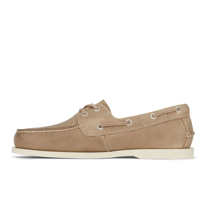 Taupe-Dockers Mens Vargas Genuine Leather Casual Classic Rubber Sole Boat Shoe