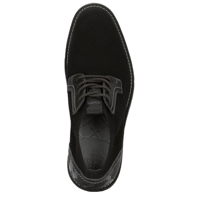 Black/Grey-Dockers Mens Einstein Knit/Leather Dress Casual Oxford Shoe with NeverWet