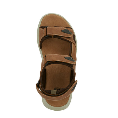 Tan-Dockers Mens Spencer Casual Outdoor Sandal Shoe with SupremeFlex Outsole