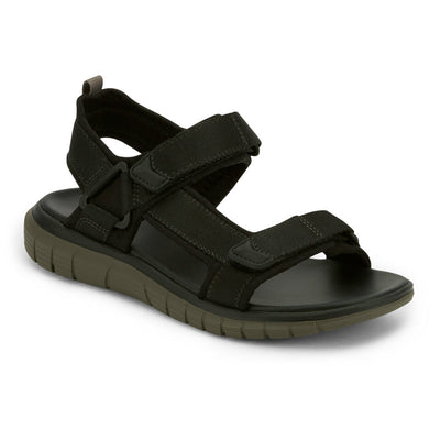 Black/Grey-Dockers Mens Soren Casual Outdoor Sandal Shoe with SupremeFlex Outsole