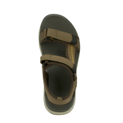 Olive-Dockers Mens Soren Casual Outdoor Sandal Shoe with SupremeFlex Outsole
