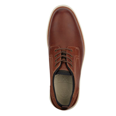 Cognac-Dockers Mens Armstrong Genuine Leather SMART SERIES Dress Casual Oxford Shoe