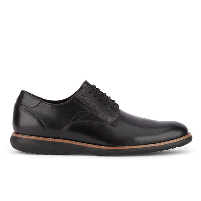 Black-Dockers Mens Shaw Genuine Leather SMART SERIES Plain Toe Dress Oxford Shoe