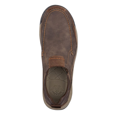 Dark Brown-Dockers Mens Albright Rugged Casual Slip-on Rubber Sole Outdoor Loafer Shoe