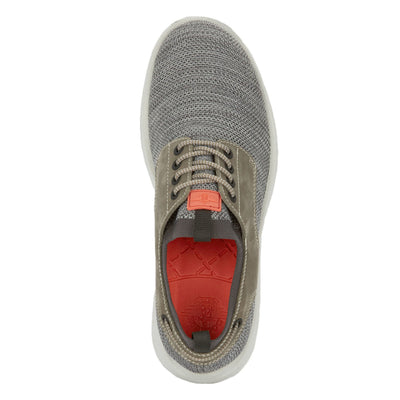 Grey-Dockers Mens Vilas SMART SERIES Leather Boat Shoe 4-Way Stretch and NeverWet