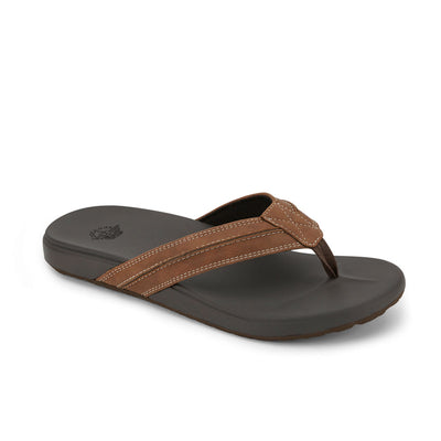 Tan-Dockers Mens Freddy Casual Flip-Flop Sandal Shoe with FEELIT Comfort Footbed