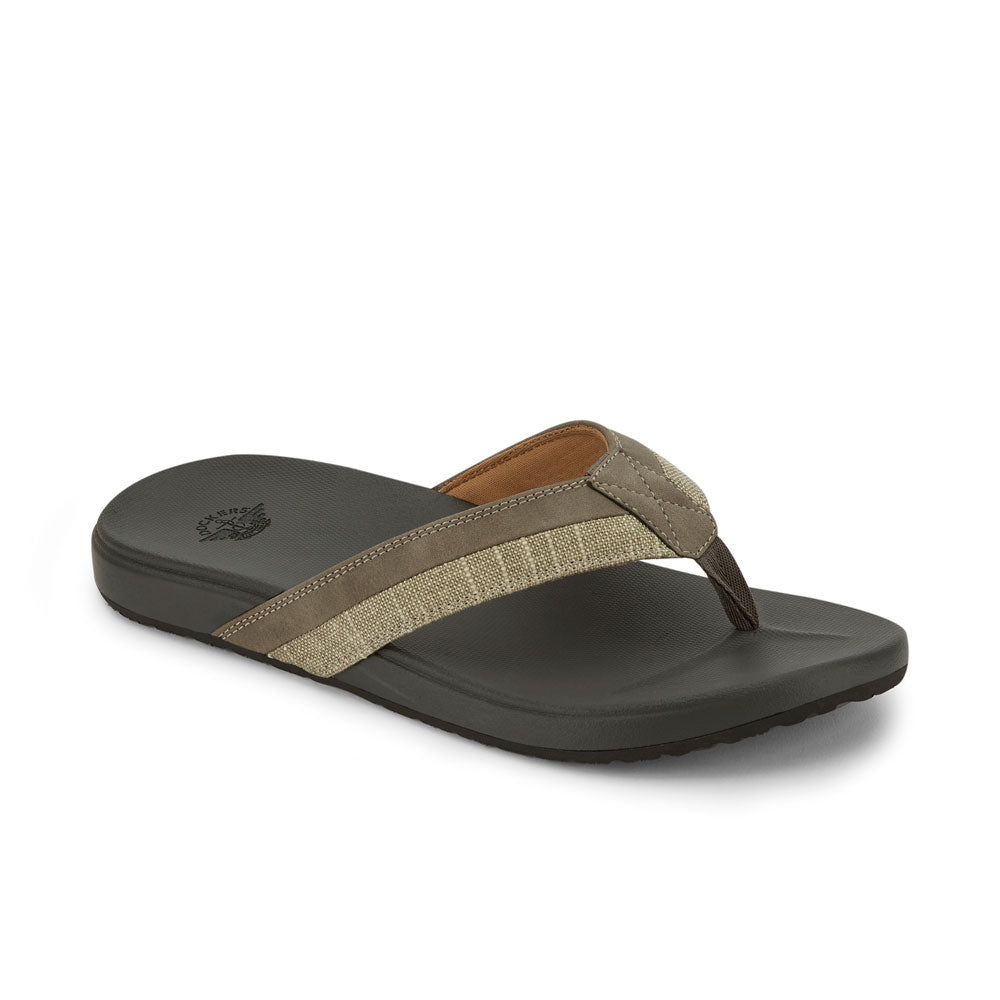 Grey-Dockers Mens Felix Casual Flip-Flop Sandal Shoe with FEELIT Comfort Footbed