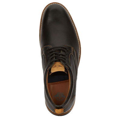 Black-Dockers Mens Nathan Genuine Leather Business Dress Casual Lace-up Oxford Shoe