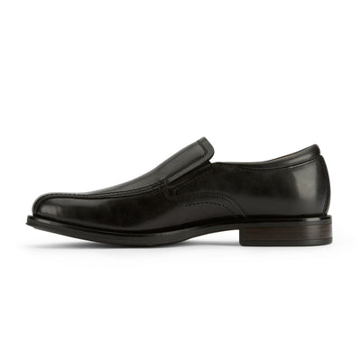 Black-Dockers Mens Green Business Dress Run Off Toe Slip-on Comfort Loafer Shoe